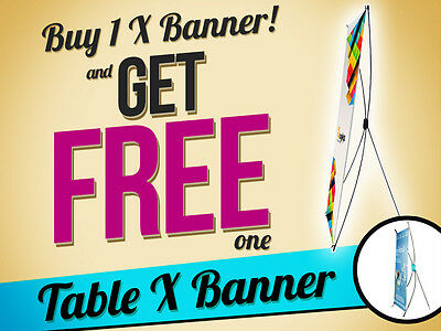 Display X Banner Stand Tripod Trade Show Exhibition Sign & Mini Table Top Stand