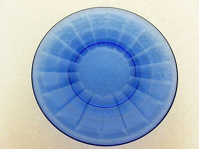 Akro Agate Large Trnsparent Blue Stacked Disc & Panel Child Tea Set PLATE ( S )