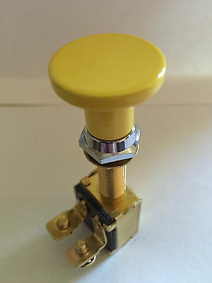 Switch Knob Billet Alum Plain YELLOW SKI RACE SPEED WAKEBOARD BOAT V8 350 454