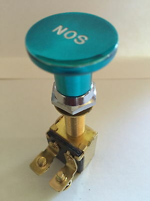 Switch Knob Billet Alum NOS TEAL SKI RACE SPEED WAKEBOARD BOAT V8 350 454 CHEV