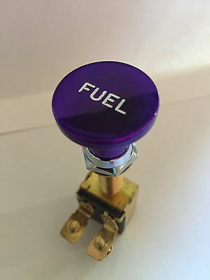 Switch Knob Billet Alum Fuel PURPLE SKI RACE SPEED WAKEBOARD BOAT V8 350 454