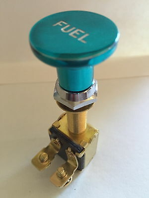 Switch Knob Billet Alum Fuel TEAL SKI RACE SPEED WAKEBOARD BOAT V8 350 454 CHEV