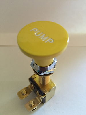 Switch Knob Billet Alum Pump YELLOW SKI RACE SPEED WAKEBOARD BOAT V8 350 454