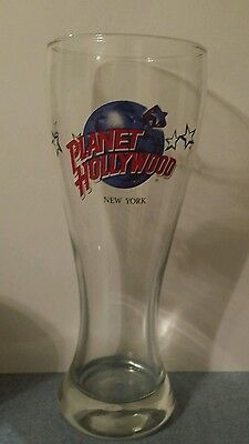 Planet Hollywood New York Tall Pilsner Beer Glass Mint Condition