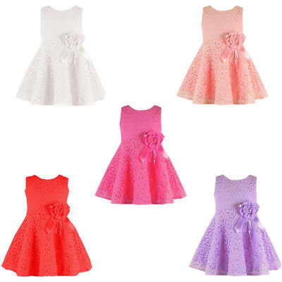 Newborn Baby Girl Clothes Kids Lace Dresses Baby Outfit Top Party Princess Dress