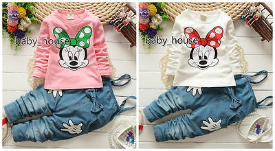 2pcs cotton kids baby Girls tops+ pants rompers Outfits autumn clothing bownot