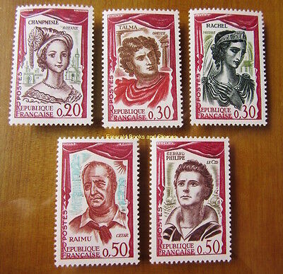 EBS France 1961 Great Actors and Actresses YT 1301-1305  Michel 1355-1359 MNH**
