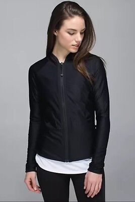 NWT Lululemon Find your Bliss Jacket Sz 4 Reversible Black/Gray Sold Out $128!
