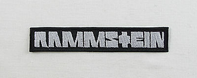 RAMMSTEIN White N1  Embroidered Iron On Sew On Patch Heavy Rock Band