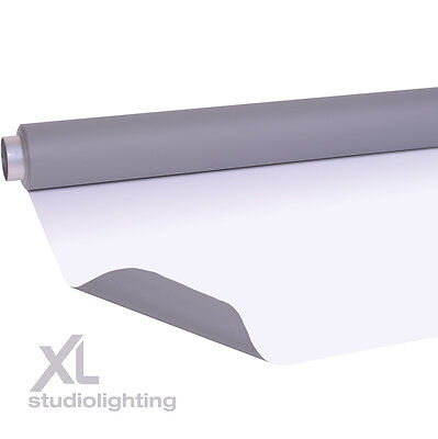 2m x 3m Double Sided Grey+White Photographic Background Vinyl DUO