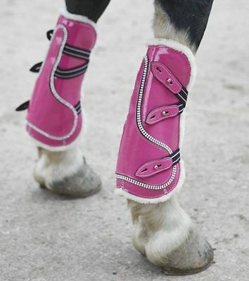 New Equipride Bling Patent Tendon Fetlock Boots in All Size and Various Colours