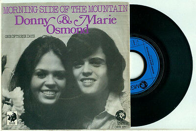 """DONNY & MARIE OSMOND 'Morning Side of the Mountain (1974)  DUTCH MGM PS VINYL 7"""""""