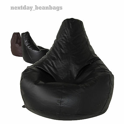 Faux Leather Brown Bean Bag Gaming Beanbag Adult size *Cover Only*