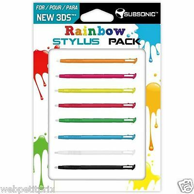 Pack de 8 stylets Multi couleurs New 3DS Neuf ****