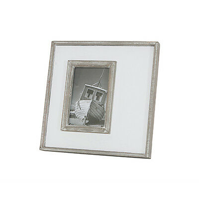 "PICTURE Photo Frame White Rustic Wood 4"" x 6"" Photo Unique Hamptons Style LOVELY"