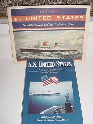 SS UNITED STATES LINES  William H. Miller Book & Travel Agency Picture Catalog