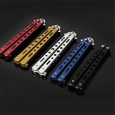 Balisong Stainless Steel Metal Blade Comb Practice Training Trainer Cool Tool