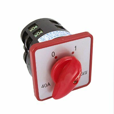 7.5W 40A Rotary Cam 8 Screw Terminals 2 Position Combination Switch