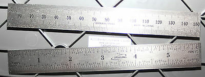 "34-006-N iGaging 6 Inch /150 MM Steel Scale/Ruler/Rule w/1/32"" End Scale"