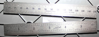 "iGaging 34-006-N Six-Inch /150 MM Steel Scale/Ruler/Rule w/1/32"" End Scale"
