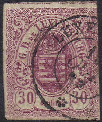 Luxembourg 1859 30c Def sg 13 used