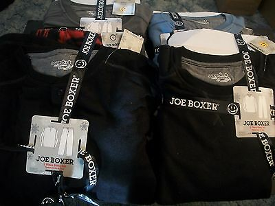 Joe Boxer Men's 2 PIECE Pajama Fleece Crew Shirt & Fleece Pants Size S,M, L NEW