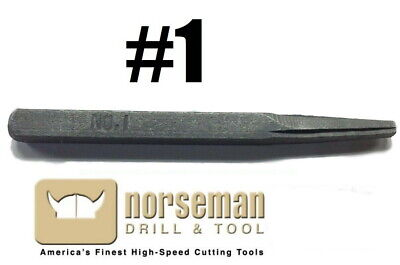 Norseman / Viking 70760 #1 Flat Square Easy Out Screw Extractor E1 (QTY. 1)