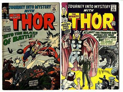 THOR JOURNEY INTO MYSTERY: #113-181 Lot of 57! Avg VG/F