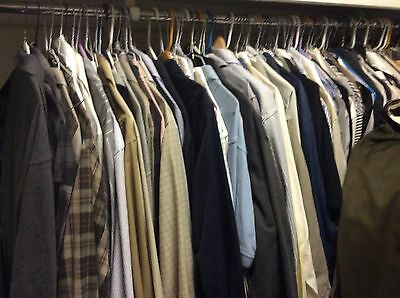 Wholesale Lot of 20 Pieces Clothing Men's Pants Shirts. 1 bottles men's cologne
