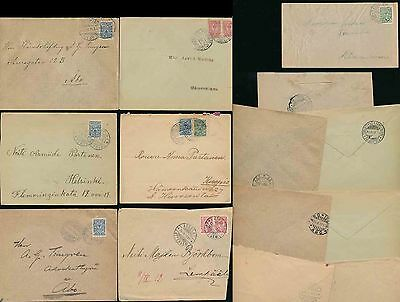 Finland 1912-1917 Envelopes + Postmarks...7 Items