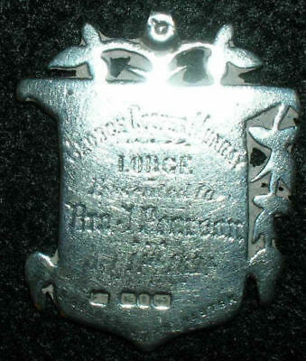 Victorian Fob antique George Cooper Murray Lodge 1894 sterling silver MEDAL