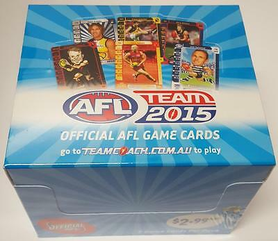 Team 2015 AFL Trading cards Sealed box of 36 packets.