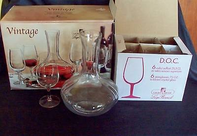 Luigi Bormioli  Italy Crystal Vintage Decanter/glasses