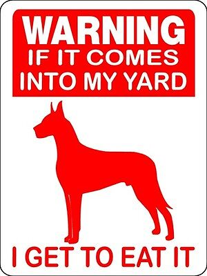 Great Dane Guard Dog Aluminum Sign Warning D2670