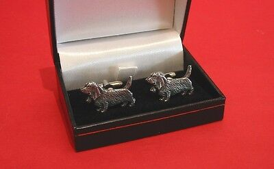 Basset Hound Pewter Cuff-links NEW Pet Vet Father's Christmas Basset Hound Gift