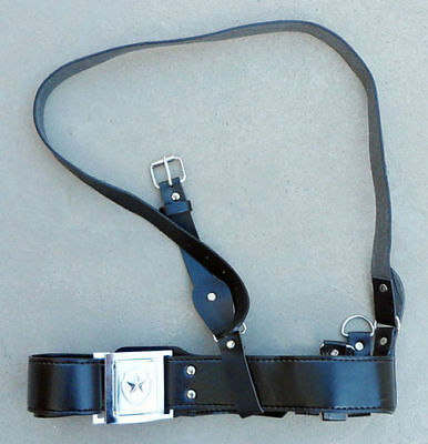 New Chinese Safety Pla Leather Belt With Shoulder Strap Black