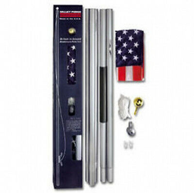 20 FT Residential Flagpole Kit & 3x5 US American Flag Valley Forge Item# AFP20F