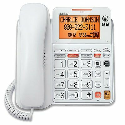 AT&T CL4940 Corded Phone with Answering System, Backlit Display, Extra-Large and