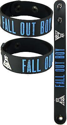 FALL OUT BOY  NEW! Bracelet Wristband aa117 Blue/Save Rock and Roll
