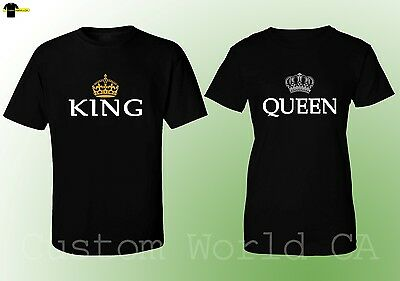 Couple Matching T-Shirt - King & Queen His and Hers - Couple TEES Love NEW