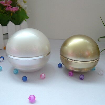 10pcs 15g 30g Ball Cosmetic Acrylic Jar Cream Container Plastic gold white Empty
