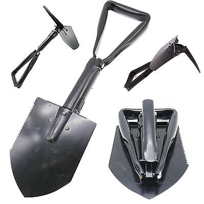 Folding Foldable Survival Shovel Spade Entrenching Military Garden Camping Tool
