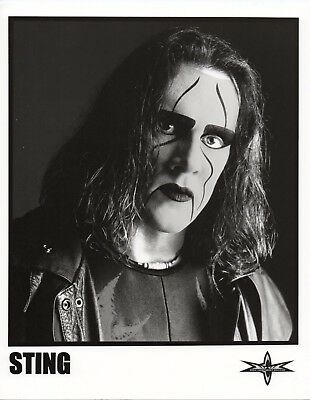 """STING PHOTO WWE 8x10"""" WRESTLING PROMO OFFICIAL WCW nWo PRODUCT"""