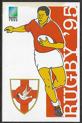 SOUTH AFRICA 1995 RUGBY WORLD CUP TONGA Pre Stamped POSTCARD