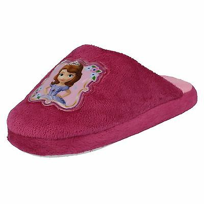 Girls Disney Princess Sofia slip On Pink Closed Toe Indoors Slippers WD8166