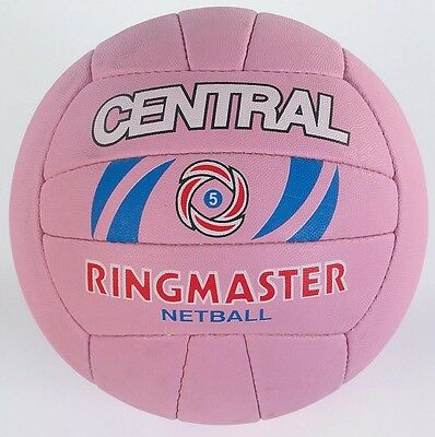 Central Team Sports Match & Training 18 Panel Ringmaster Netball Ball Size 5