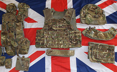 /MTP CAMO BODY ARMOUR MK4 /A ASSAULT OSPREY VEST COMPLETE - SIZES , British Army
