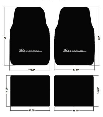 4pc Loop 1970-1973 Plymouth Barracuda Floor Mats