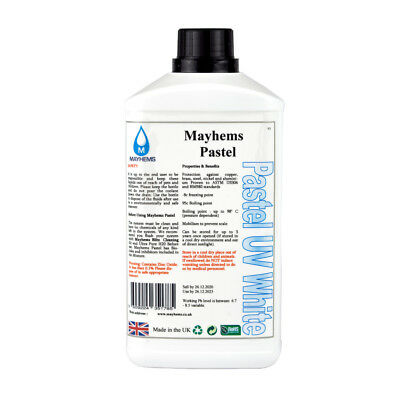 Mayhems Pastel Pre Mixed Water Cooling Liquid Coolant UV White Fluid 1 Litre