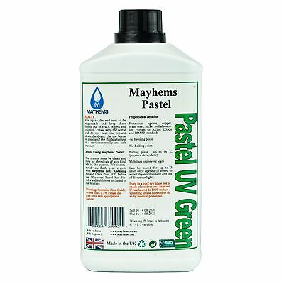 Mayhems Pastel Pre Mixed Water Cooling Liquid Coolant UV Green Fluid 1 Litre